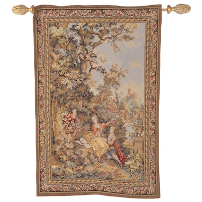 Rococo Style Jacquard Tapestry Inspired by Jean-Honore Fragonard, Late 20th C.