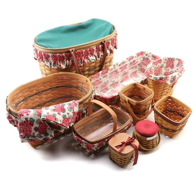 "Longaberger Baskets Including ""Hostess Appreciation"" Basket, 2000s"