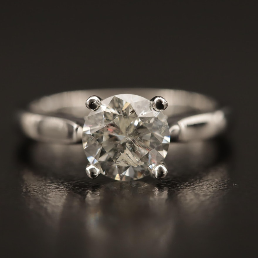 18K 1.53 CT Diamond Solitaire Ring