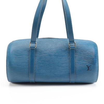 Louis Vuitton Soufflot with Accessories Pochette in Toledo Blue Epi Leather