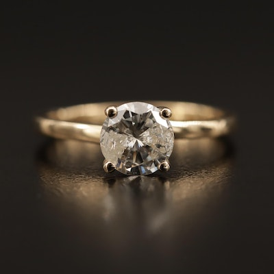 14K 0.98 CT Diamond Solitaire Ring