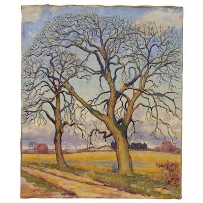 Louis Rodolphe Bartholdi Impressionist Oil Painting, 1922