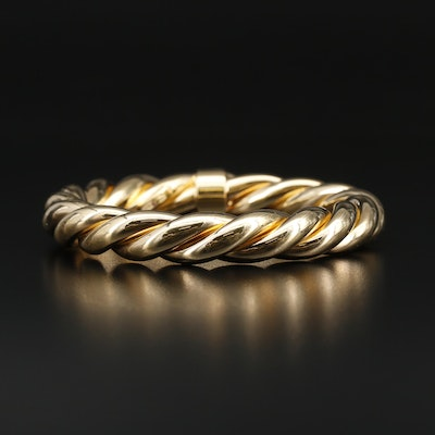 "Roberto Coin ""Fifth Season"" Sterling Silver Twisted Bangle"