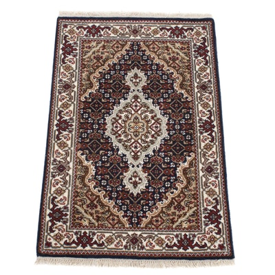 2' x 3'3 Hand-Knotted Indo-Persian Tabriz Silk Blend Rug, 2010s