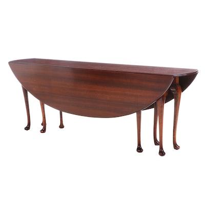 George III Style Mahogany Drop-Leaf Hunt Table