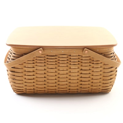 Longaberger Handwoven Storage Basket with Plastic Liners, 2003