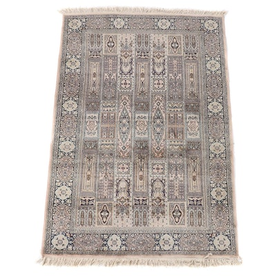 3'10 x 6'4 Hand-Knotted Persian Bakhtiari Wool Rug
