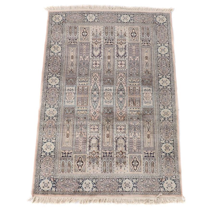 3'10 x 6'4 Hand-Knotted Persian Bakhtiari Wool Rug