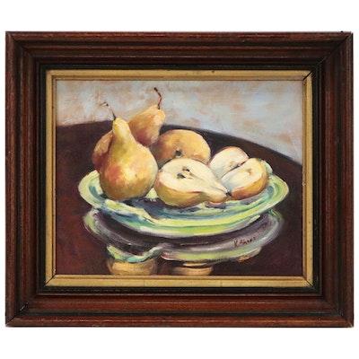 Pear Still Life Oil Painting, 21st Century