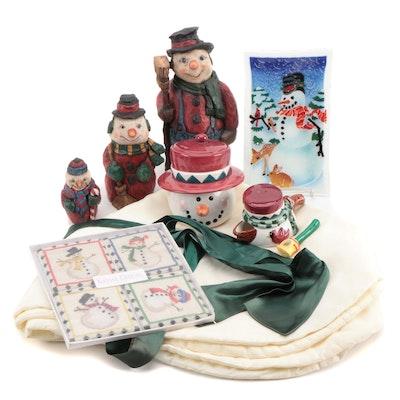 Craig Kirkwood Snowmen Figurines and Other Seasonal Decor, Late 20th Century