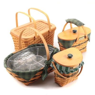 "Longaberger ""Fellowship"", ""Hospitality"" and Other Handwoven Baskets"
