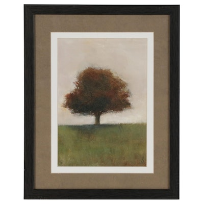 "Landscape Oil Painting ""Oak Tree #14"", 21st Century"