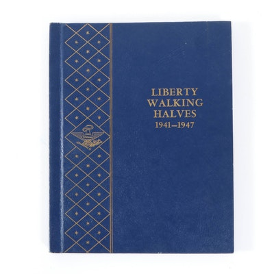 Complete Walking Liberty Half Dollar Collection in Whitman Album, 1941–1947