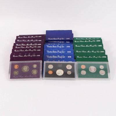Twenty United States Mint Proof Sets