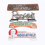 Franklin D. Roosevelt License Plate and Tags, 1930s