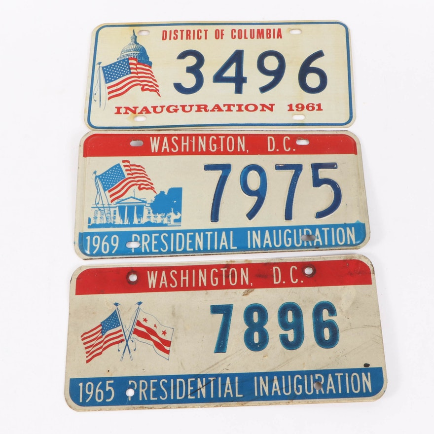 Presidential Inauguration License Plates, 1961–1969