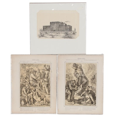 """Figural Engravings from """"Hutchinson's History of the Nations"""", 1915 and More"""