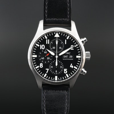 I.W.C. Schaffeusen Pilots Chronograph Stainless Steel Wristwatch