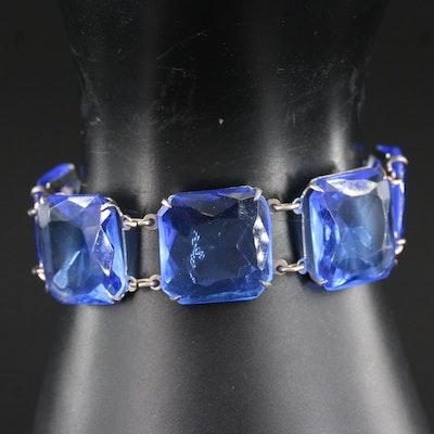 1930's Faceted Glass Bracelet