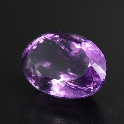 Loose 62.35 CT Oval Faceted Amethyst