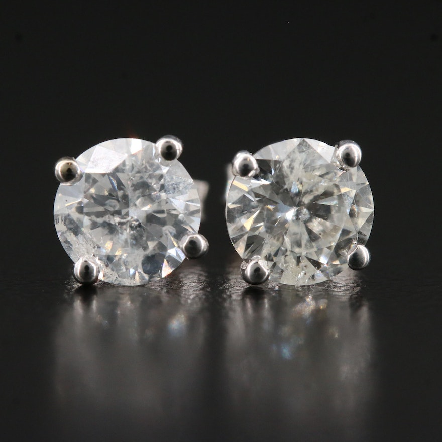 14K 2.13 CTW Diamond Stud Earrings
