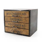 Weatherhead Original Equipment Metal Cabinet with Fittings, Mid-20th Century