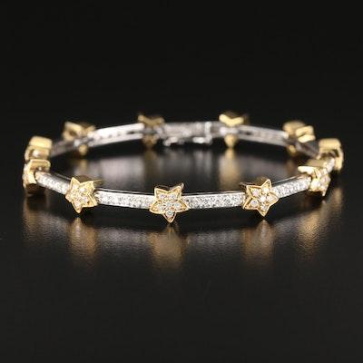 18K 1.50 CTW Diamond Star Bracelet