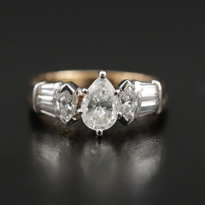 14K Gold 1.66 CTW Diamond Ring