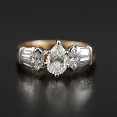 14K Gold 1.66 CTW Diamond Ring