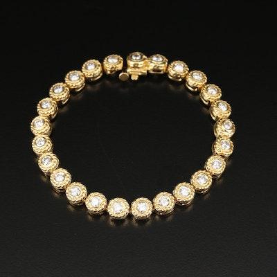 18K 2.50 CTW Diamond Bracelet