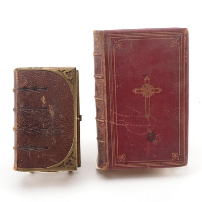 Leather Bound Prayer Books, Mid to Late 19th Century