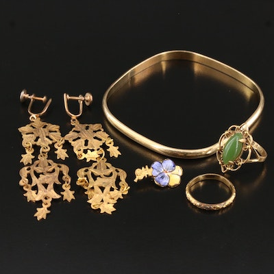 Vintage Glass and Enamel Jewelry Collection