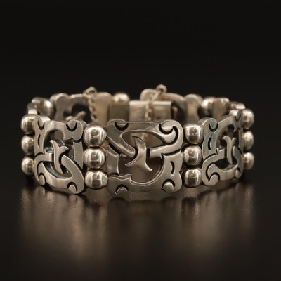 Taxco Modernist Sterling Silver Bracelet