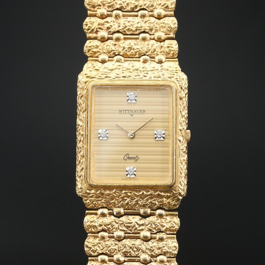 Wittnauer Diamond Dial Quartz Wristwatch