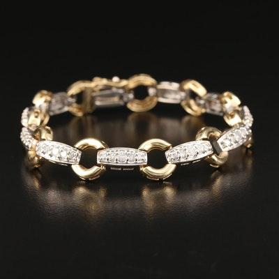 14K Two Tone 1.73 CTW Diamond Bracelet