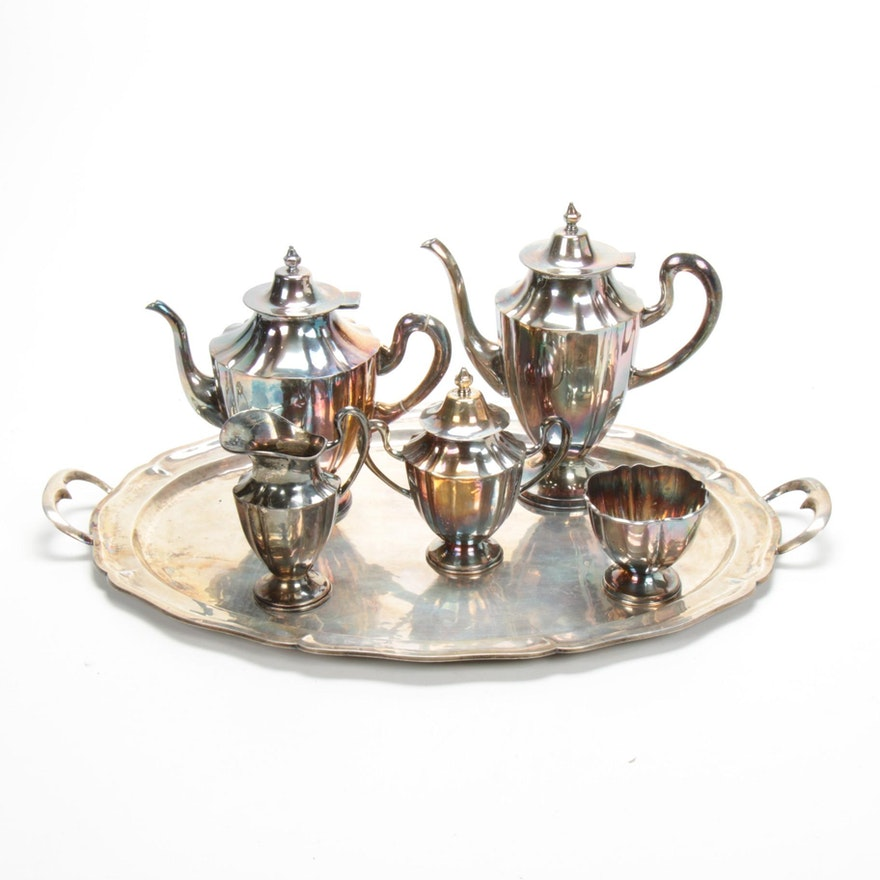 Sterling Silver Tea and Coffee Service, Mid to Late 20th Century