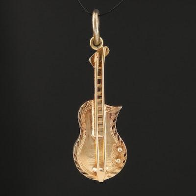 18K Electric Guitar Pendant