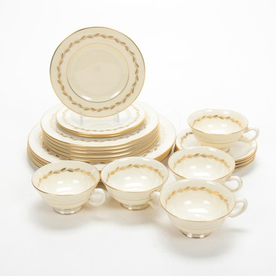 "Lenox ""Golden Wreath"" Gilt Porcelain Dinnerware"