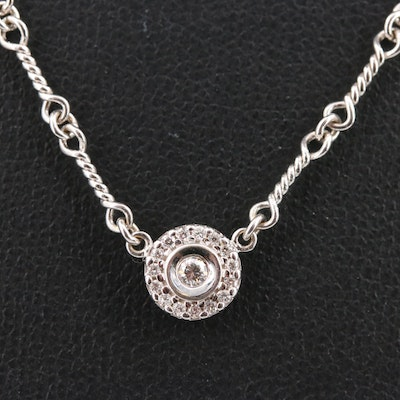 Roberto Coin 18K Diamond Station Necklace