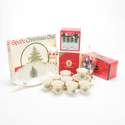 Spode, Christopher Radko, Lenox, and Other Christmas Dinnerware and Ornaments