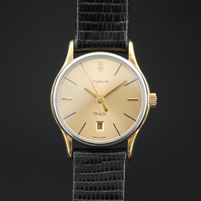 Corum 18K Gold and Stainless Steel Quartz Wristwatch