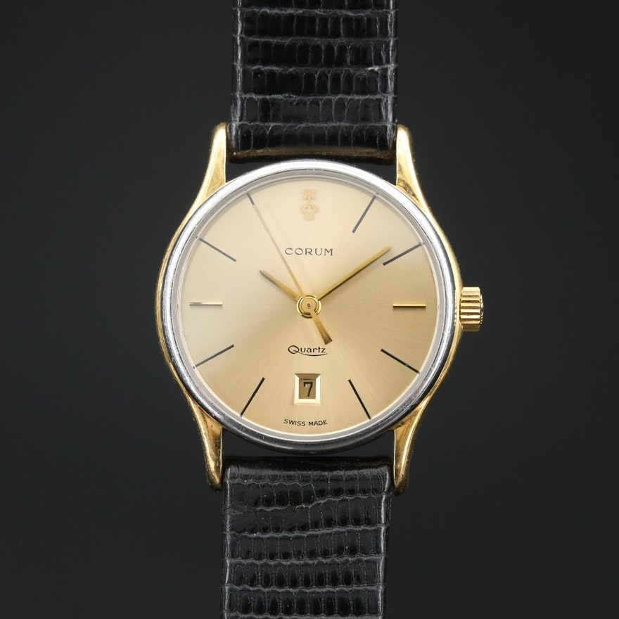Corum 18K Gold and Stainless Steel Quartz Wristwatch