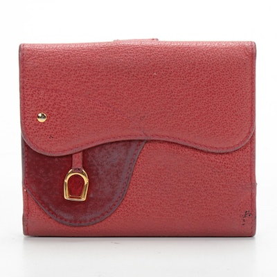 Gucci Saddle Wallet in Red Leather