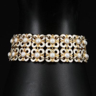 David Andersen Sterling Silver Panel Bracelet