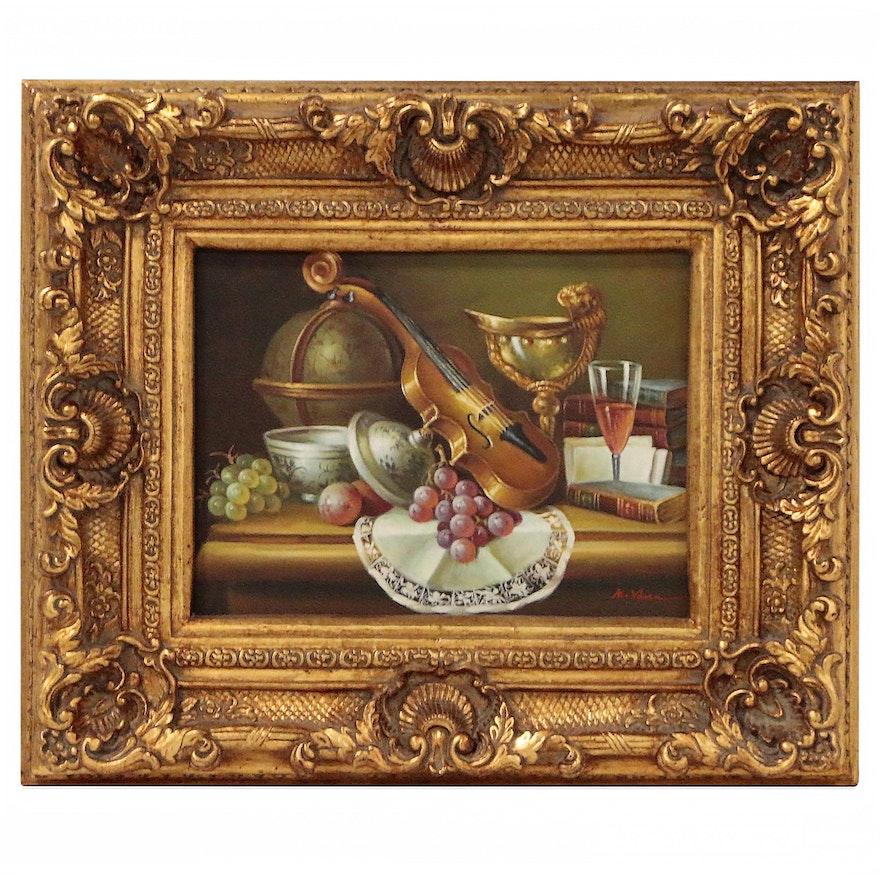 Decorative Still Life Oil Painting, 21st Century