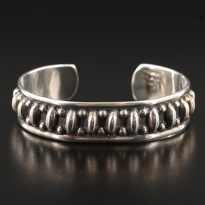 Mexican Sterling Silver Pattern Cuff