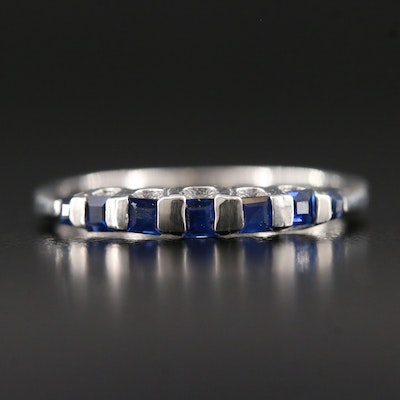 Sterling Silver Sapphire Stacking Band