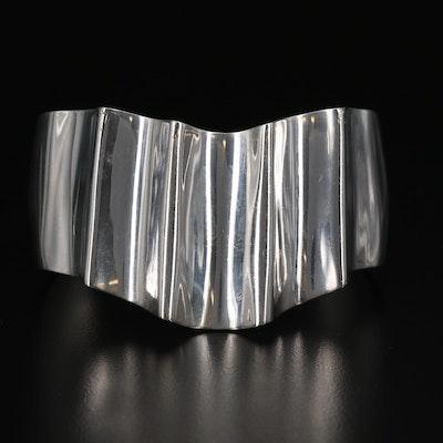 Modernest Taxco Sterling Silver Chevron Cuff