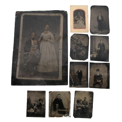 Antique Tintype and Ambrotype Portrait Photographs