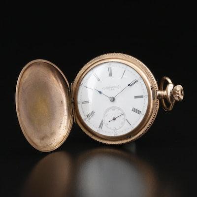 Vintage Reliance Gold Filled Hunting Case Pocket Watch